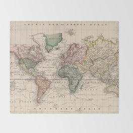 old world map throw blankets society6