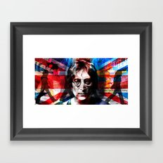shadow death hero's LENNON Framed Art Print