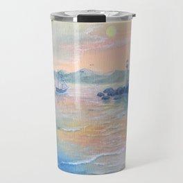 Evening ocean,sunset Travel Mug