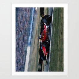 Sketch of F1 Champion Jody Scheckter - year 1979 car 312 T4 - Vertical Art Print
