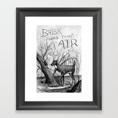 Brisk was the Air Framed Art Print