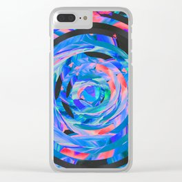 Circle in circle (in circle) Clear iPhone Case