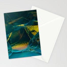 Aqua Bubbles Stationery Cards