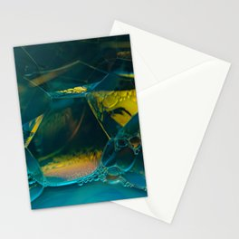 Aqua Bubbles Stationery Cards