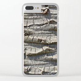 Bark of palm trees Clear iPhone Case