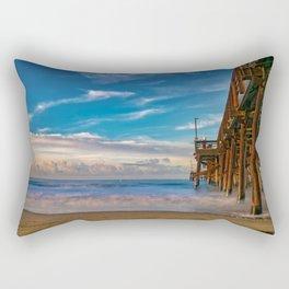 Southside Newport Pier Rectangular Pillow