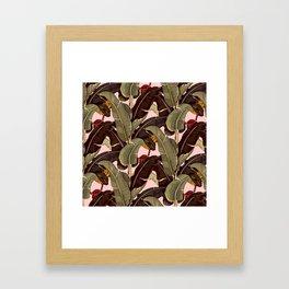 martinique pattern Framed Art Print