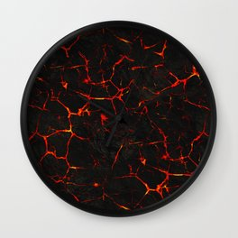 Hot Lava Wall Clock
