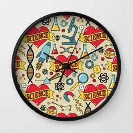 Scientific Tattoos Wall Clock