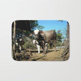 costa rican cows. Bath Mat