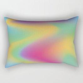 Holographic vibes Rectangular Pillow