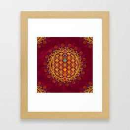 FLOWER OF LIFE, CHAKRAS, SPIRITUALITY, YOGA, ZEN, Framed Art Print