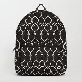 Black and White Elegant Pattern Backpack
