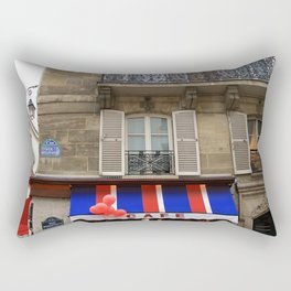 Red Balloons at Café Bonaparte Rectangular Pillow