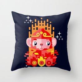 Fire Monkey Year Throw Pillow