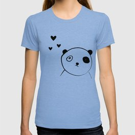 Panda in love pink T-shirt