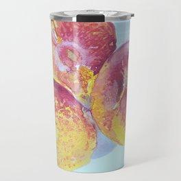 Nectarines Watercolor Painting Travel Mug