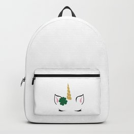 Cute Unicorn St. Patrick's Day Funny Shamrock Irish Backpack