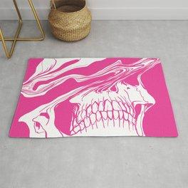 Liquify skull in hot pink Rug