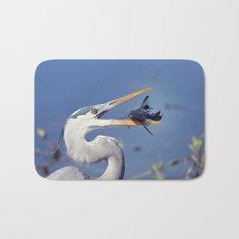 Great Blue Heron with Sailfin Catfish Bath Mat