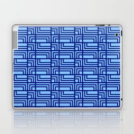 Blue Ocean Pattern | Sea | Geometric | Greece Inspired | Square Shapes | Art Deco | For Him Laptop & iPad Skin