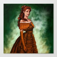 belle Canvas Prints featuring Belle by Anja-Catharina