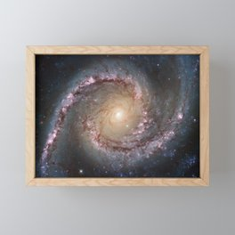 Intermediate Spiral Galaxy NGC 1566 Framed Mini Art Print