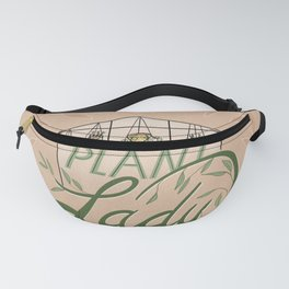 Plant Lady - Peach and Green, Lettering, Plants Illustration  Fanny Pack
