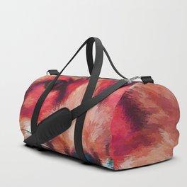 Red fox art #fox #animals Duffle Bag