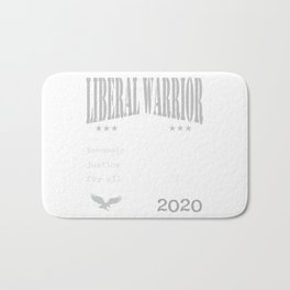 Andrew Yang 2020 | Liberal Warrior | Economic Justice for all Bath Mat