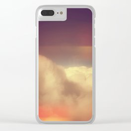 Rainbow Clouds Clear iPhone Case