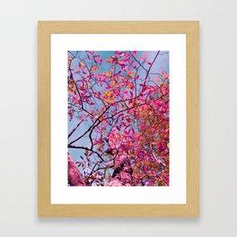 Lustrous Leaves Lavender Framed Art Print
