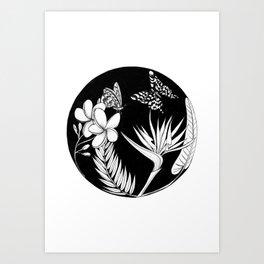 Botanic Circle II Art Print