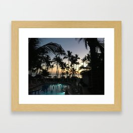 dreams from punta cana // the dominican republic Framed Art Print