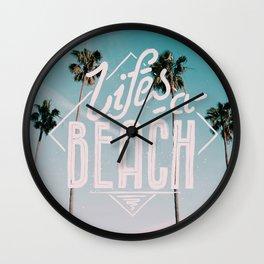 Lifes a beach #vintage Wall Clock