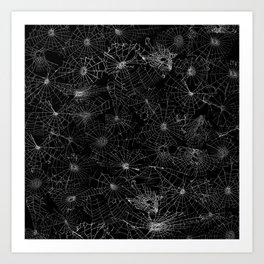 cobwebs Art Print