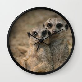 Meerkat_20170901_by_JAMFoto Wall Clock