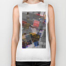 Abstract Composition 255 Biker Tank