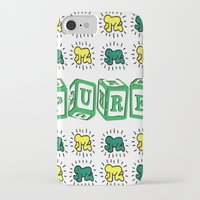 keith haring iPhone & iPod Cases featuring PURE (Keith Haring Tribute) by Kerosene Bill