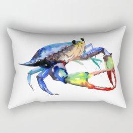 Crab, Sea World Rainbow Colors Beach Rectangular Pillow