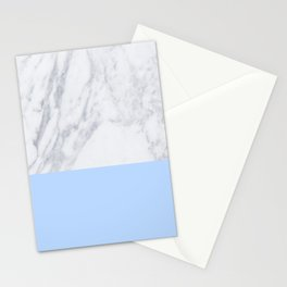 Duck Egg Marble Stationery Cards
