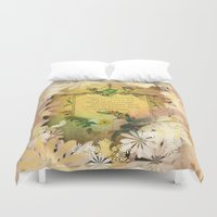 poem Duvet Covers featuring Love Poem by Lucia