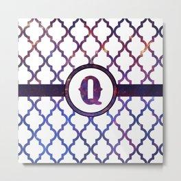 Galaxy Monogram: Letter Q Metal Print