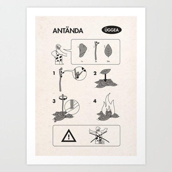 Flatpack Firestarter Art Print