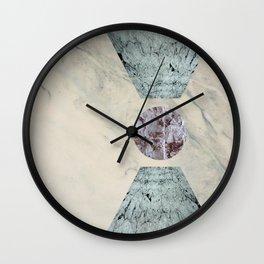 Framed marble Wall Clock