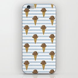 ice cream cones stripes food fight apparel and gifts iPhone Skin