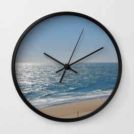 Ocean Solitude, Atlantic Ocean, Morning Beach, Wall Clock