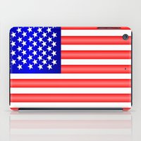 american flag iPad Cases featuring American Flag by Justbyjulie
