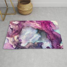 Purple Fusion - Mixed Media Painting Rug