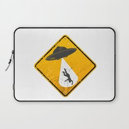 Caution: Abduction Zone Laptop Sleeve